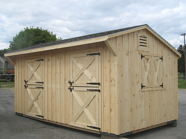 Two Stall Custom Horse Barn Row Barn