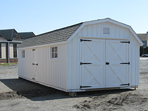 Storage Shed with Gambrel Roof