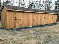 10'x40' Shedrow Horse Barn with 4 Stalls