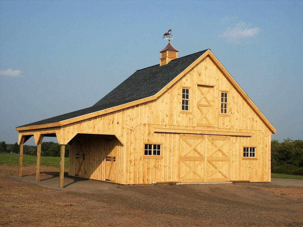 Architectural Plans For 30 X24 Horse Barn With Lean To